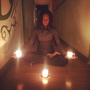 Candlelit hallway with Rhema