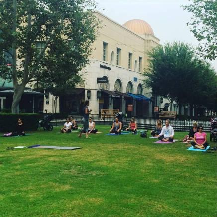 Yoga at Victoria Gardens park